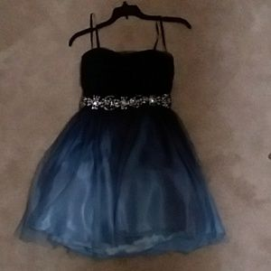 Blue Ombre Homecoming Dress